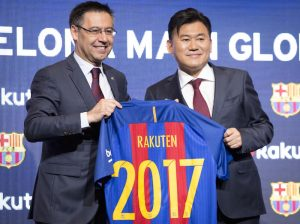 Agreement signed between FC Barcelona and Rakuten Inc.